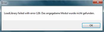 loadlibrary failed with error_126