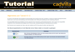 cadvilla Tutorial - Lernsoftware
