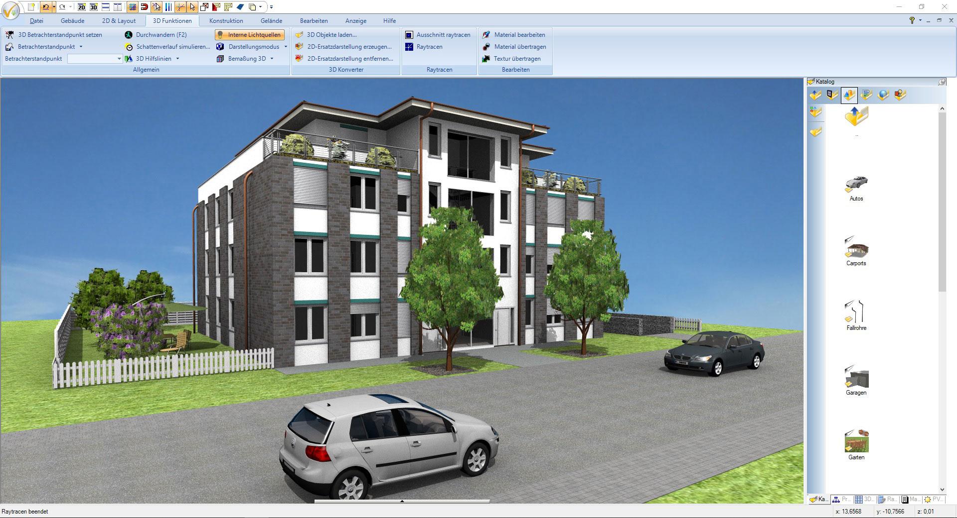 Screenshot CAD Software für Architektur - Projekt Gewerbeimmobilie