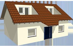 wycięcia i przedłużenie dachu