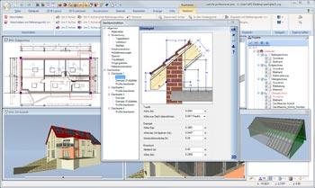 Dach mit CAD Software eingeben