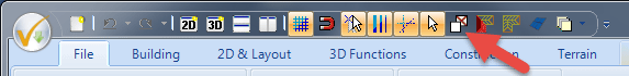 "Button ""Ceilings on/ceilings off"" in the toolbar"