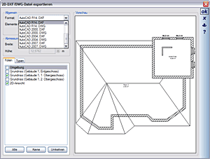 2D DXF and DWG Export
