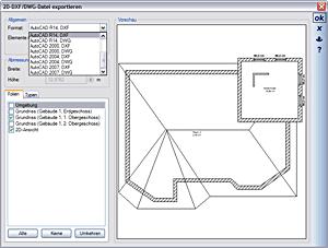 Eksport do formatu 2D DXF i 2D DWG