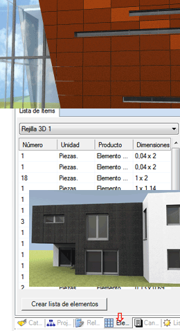 Elementos de grades e fachadas 3D