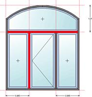 Fensterkonstruktion Pfosten