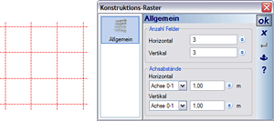 Definition Raster für Fensterkonstruktion