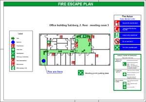 Fire escape plan - A3