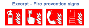 fire prevention signs