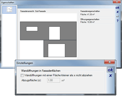 Evaluate facade surface via context menu