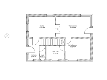 Exposéplan with room area calculation