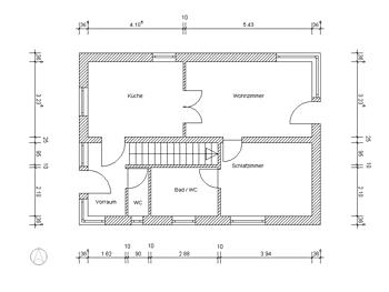 Opis nieruchomości z wymiarami pomieszczeń