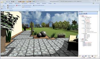 planificación de jardines 3D
