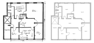 Using floor plans as a blueprint