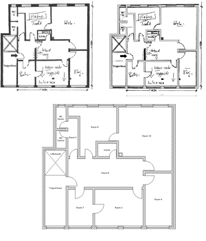 Scaling and creating 'blueprints' for 2D floor Plans