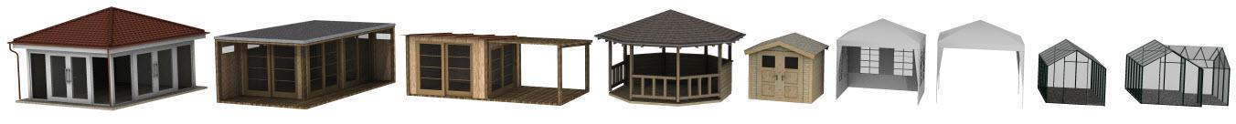 Pavilion, Gartenhaus in 3D
