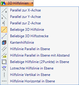 The software provides various types of 3D guidelin