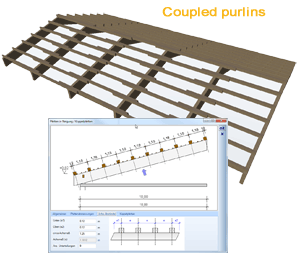 Coupled purlins