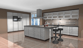 Kitchen in beige / taupe