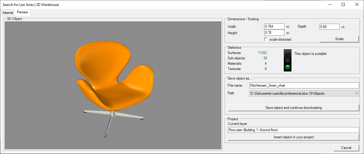 Online 3D-Object preview