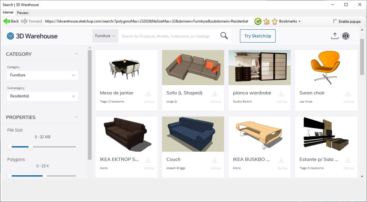 Online 3D-Objects browser