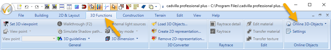 Online 3D Objects