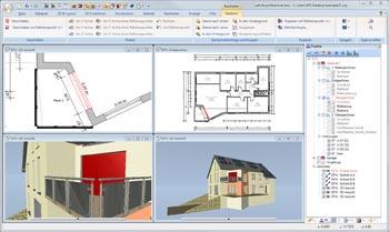 Hausplanung Software mit mehreren Perspektiven