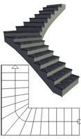 Quarter-turn staircase
