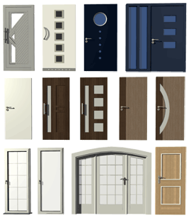 Front door, patio door, inner door, double door